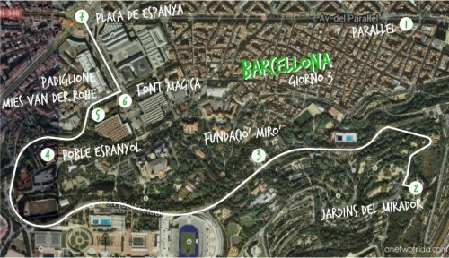 Itinerario di 3 giorni a Barcellona - terzo giorno - Montjuic