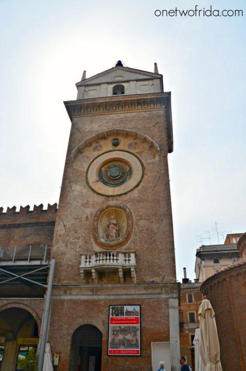 La torre dell'Orologio di Mantova