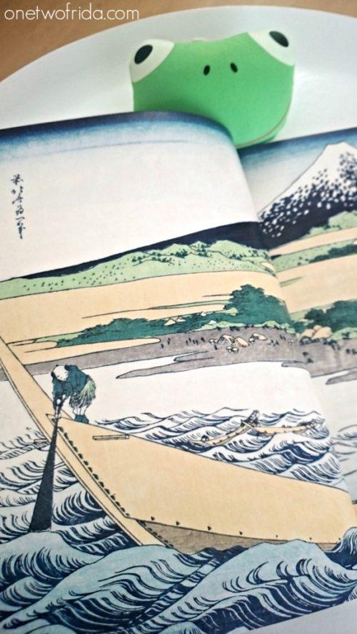 stampa delle vedute del monte fuji