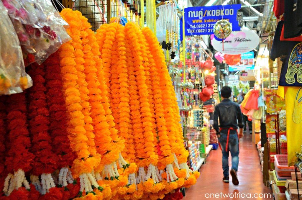 sezione del mercato dei fiori