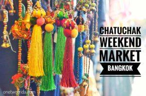 Chatuchak weekend market di Bangkok