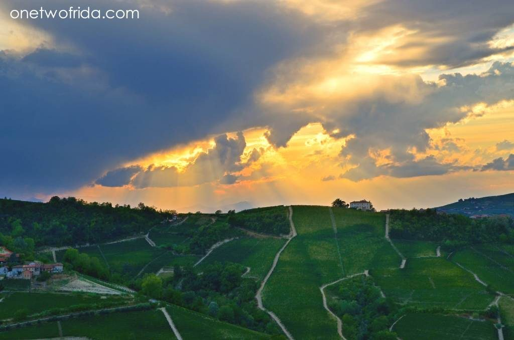 Tramonto sulle Langhe